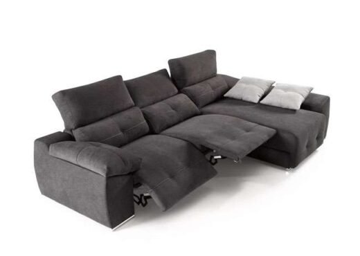 sofa relax motorizado con chaise longue reclinable