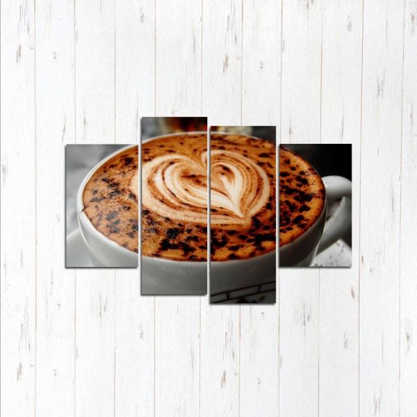 Модульная картина Кофейное сердце