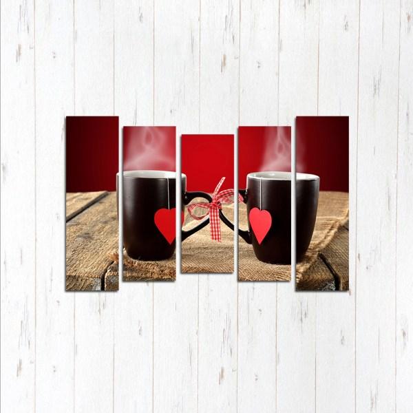 Модульная картина Две чашки
