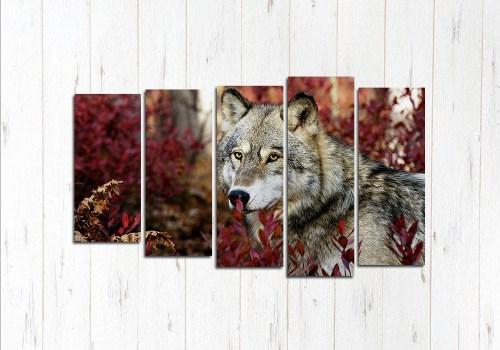 Модульная картина Волк на охоте