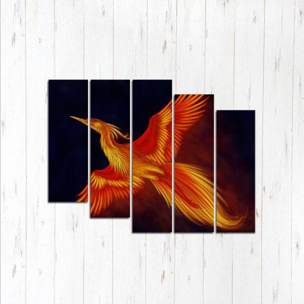 Модульная картина Яркая жар-птица