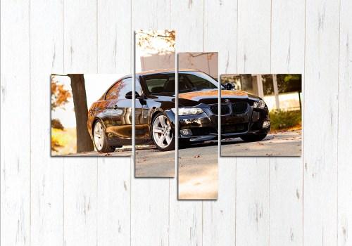 Модульная картина Чёрная BMW e90 cup