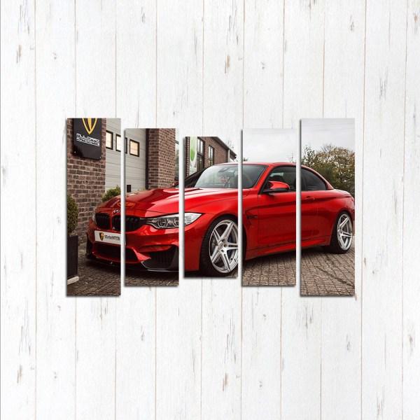 Модульная картина Красная BMW 3