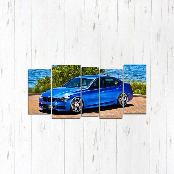 Модульная картина Синяя BMW 3