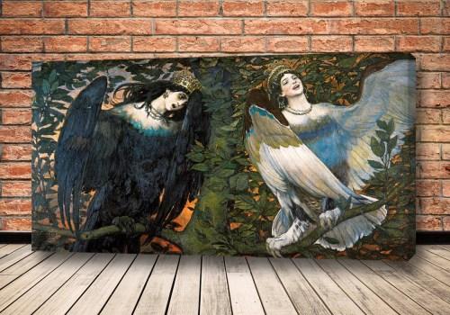 Картина Сирин и Алконост. Песнь радости и печали.
