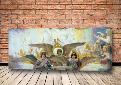 Картина Радость праведных о господе Васнецова (центральная часть)