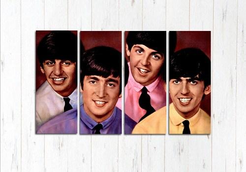 Модульная картина Четыре друга Beatles