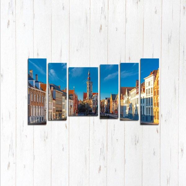 Модульная картина Площадь Брюгге