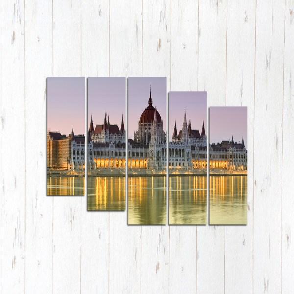 Модульная картина Светлый Будапешт