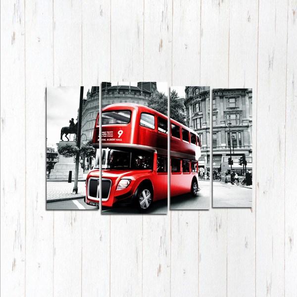 Модульная картина Современный автобус