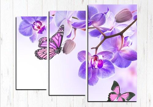 Модульная картина Бабочки парят