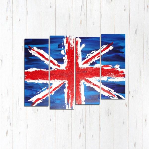 Модульная картина Флаг Англии
