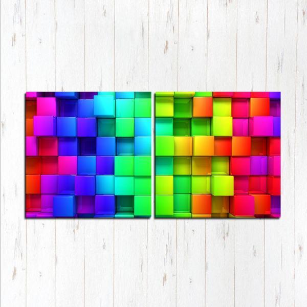 Модульная картина Яркий кубизм