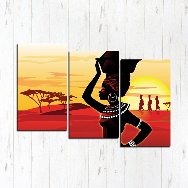 Модульная картина Африка закат