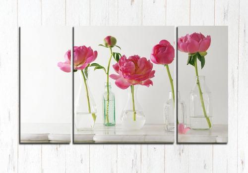 Модульная картина Лёгкие цветы