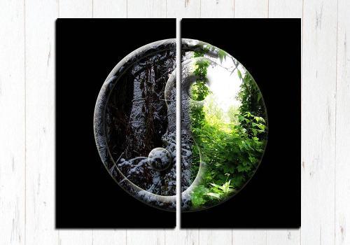 Модульная картина Природа Инь Янь