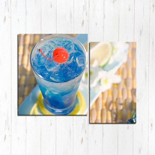 Модульная картина Голубой коктейль