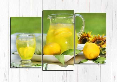 Модульная картина Натуральный лимонад