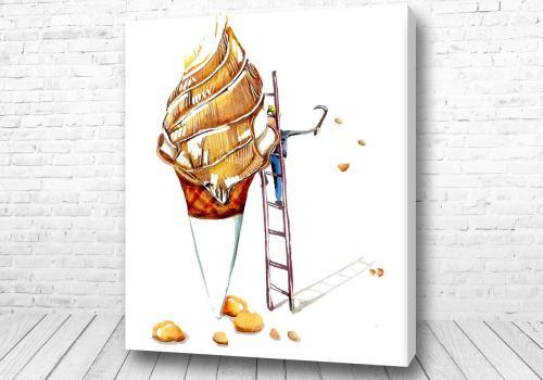 Постер Строитель мороженного