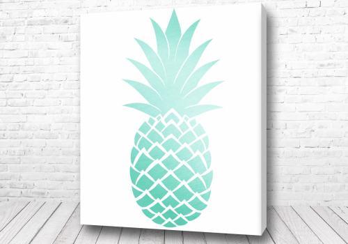 Постер Голубой ананас арт