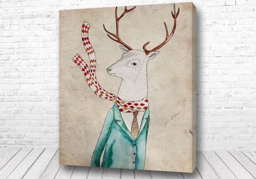 Постер Олень в шарфике