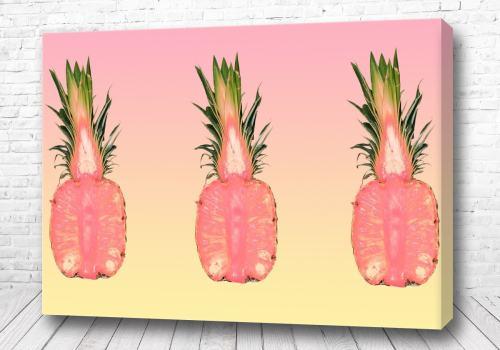 Постер Яркие ананасы