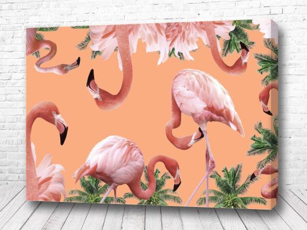Постер Фламинго папоротник