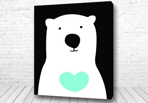 Постер Белый мишка