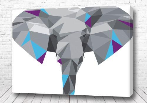 Постер Стильный слон