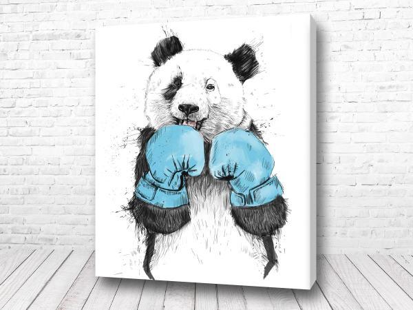 Постер Панда боксёр