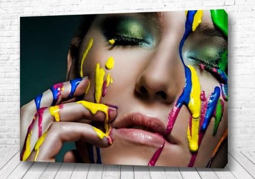 Постер Лицо и краска