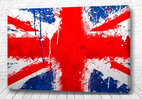 Постер Английский флаг яркий