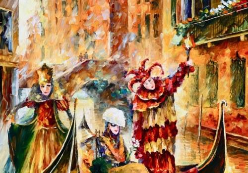 Картина Прогулка в Венеции