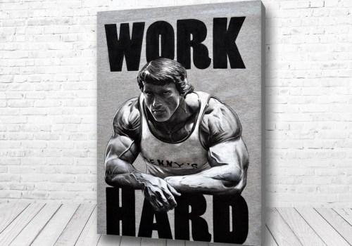 Постер Work Hard Шварценеггер