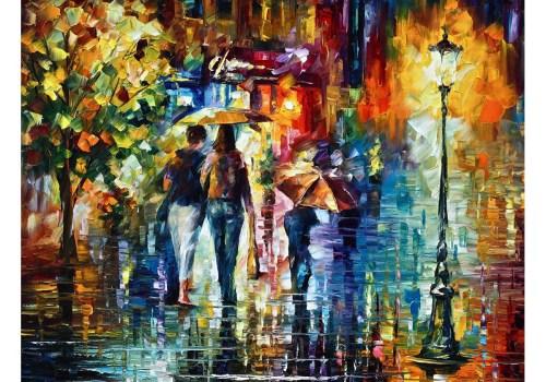 Картина Пары под зонтом