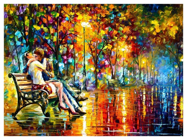Картина Поцелуй в парке
