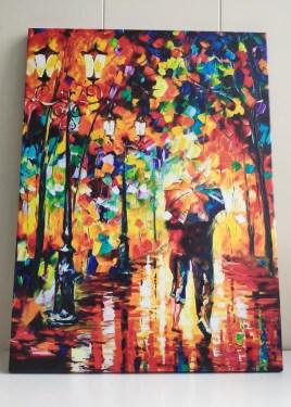 Картина двое под дождём