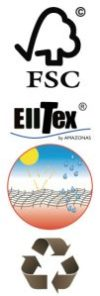 Logo FSC & Recycle & Elltex