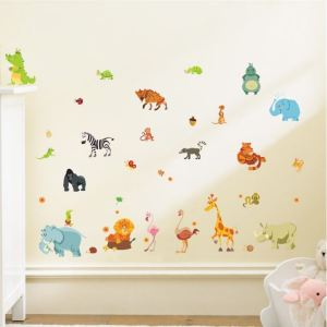 muursticker jungle dieren