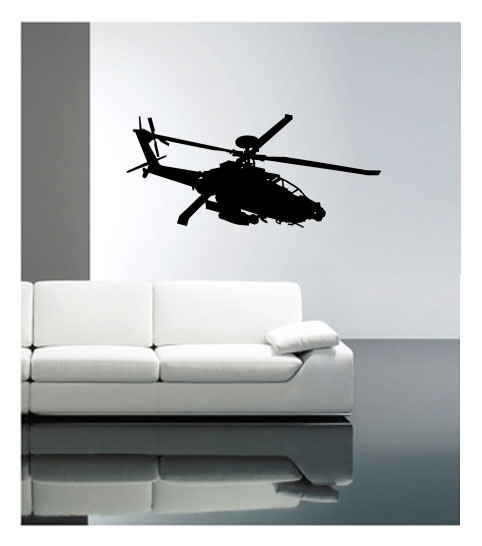 muursticker coart helikopter