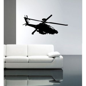 muursticker coart helikopter
