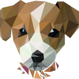muursticker diamond hondje