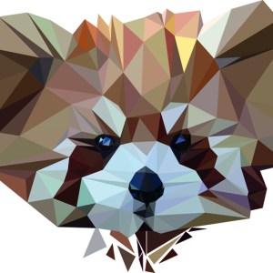 muursticker diamond rode panda