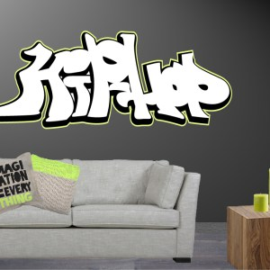 muursticker graffiti hiphop
