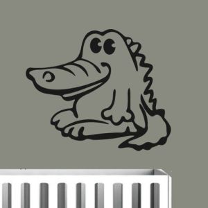 muursticker krokodil baby