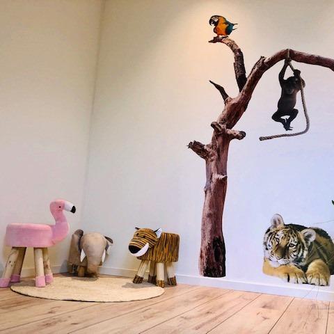 muursticker zoo family boom