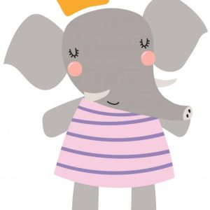 muursticker Pencil olifant