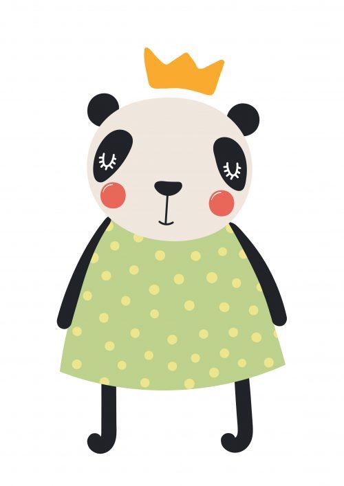 muursticker pencil panda