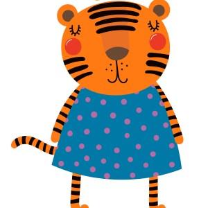 muursticker pencil tijger