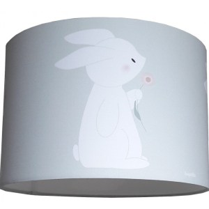 kinderlamp konijn met bloem